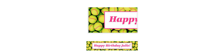 Custom Softball Ticket Banner