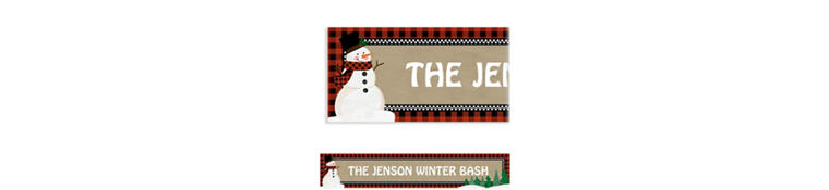Custom Winter Wonderland Snowman Banner