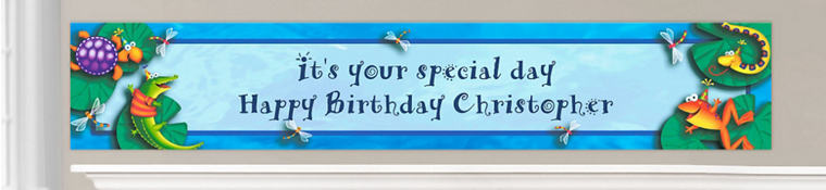 Custom Bugs & Reptiles Birthday Banners