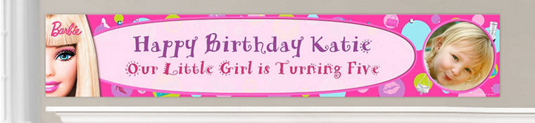 Custom Barbie Birthday Banners