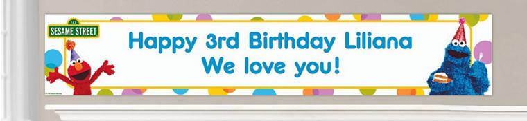 Custom Sesame Street Birthday Banners