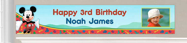 Custom Mickey Mouse Birthday Banners