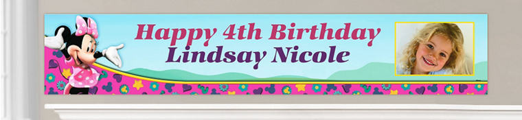 Custom Minnie Mouse Birthday Banners