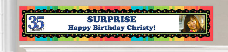 Custom 35th Birthday Banners