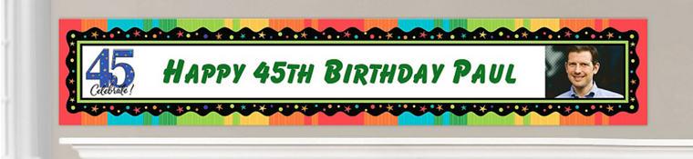Custom 45th Birthday Banners