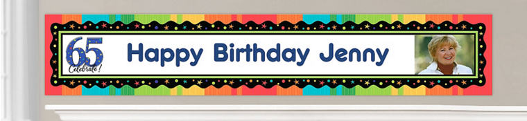 Custom 65th Birthday Banners