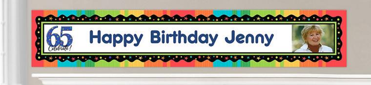 Custom 65th Birthday Banners