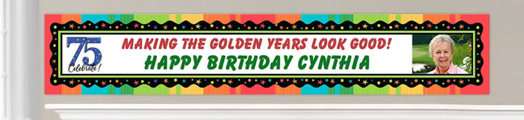 Custom 75th Birthday Banners