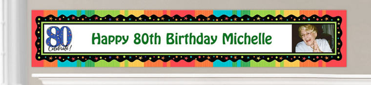 Custom 80th Birthday Banners