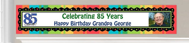 Custom 85th Birthday Banners