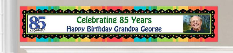 Custom 85th Birthday Banners
