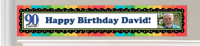 Custom 90th Birthday Banners
