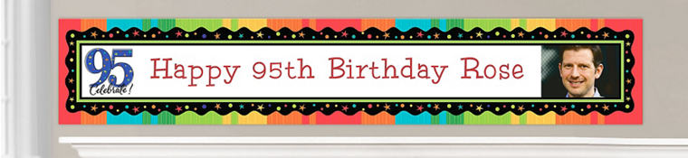 Custom 95th Birthday Banners