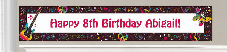 Custom Neon Birthday Banners