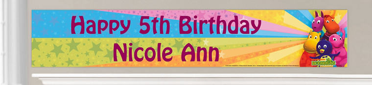 Custom Backyardigans Birthday Banners