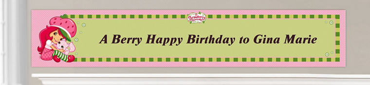 Custom Strawberry Shortcake Birthday Banners