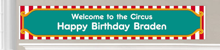Custom Circus Birthday Banners
