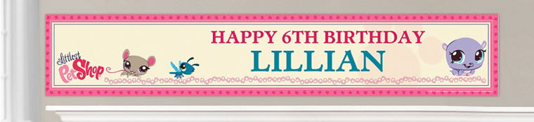 Custom Littlest Pet Shop Birthday Banners