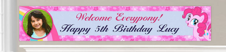 Custom My Little Pony Birthday Banners