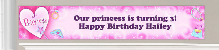 Custom Princess Birthday Banners