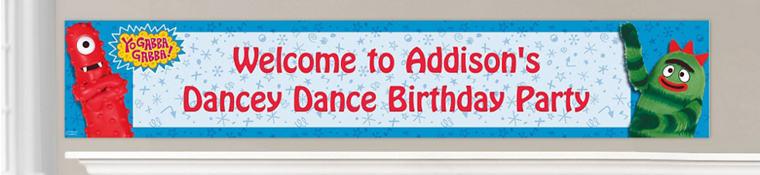 Custom Yo Gabba Gabba Birthday Banners