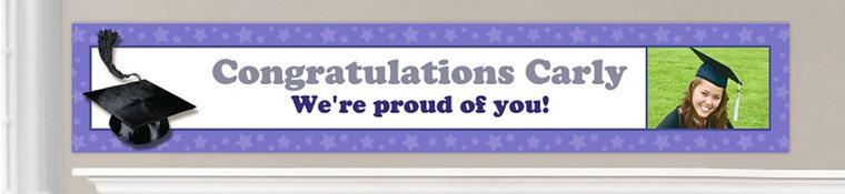 Custom Purple Graduation Banners