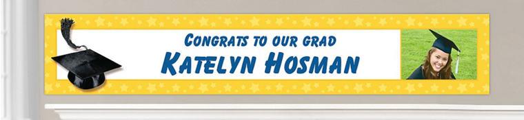 Custom Yellow Graduation Banners