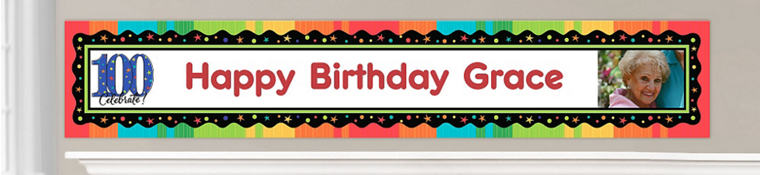 Custom 100th Birthday Banners