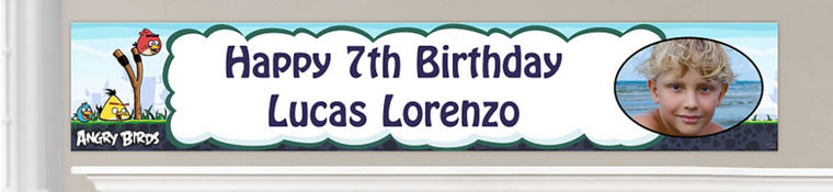 Custom Angry Birds Birthday Banners