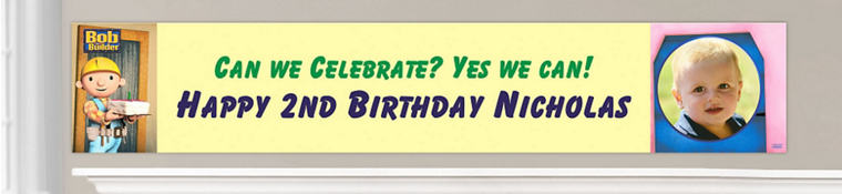 Custom Bob the Builder Birthday Banners