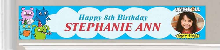 Custom Uglydoll Birthday Banners