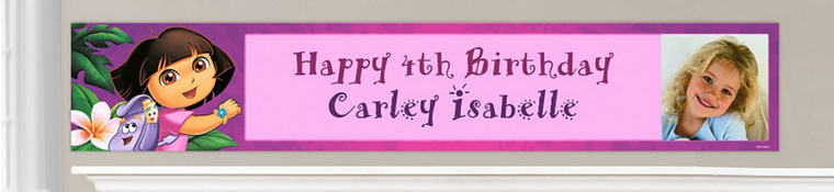 Custom Dora Birthday Banners