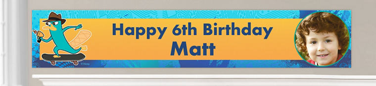 Custom Phineas & Ferb Birthday Banners
