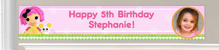 Custom Lalaloopsy Birthday Banners