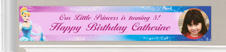 Custom Cinderella Birthday Banners