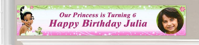 Custom Princess and the Frog Birthday Banners