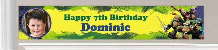Custom Teenage Mutant Ninja Turtles Birthday Banners