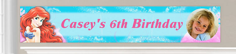 Custom Little Mermaid Birthday Banners