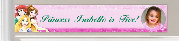 Custom Disney Princess Birthday Banners