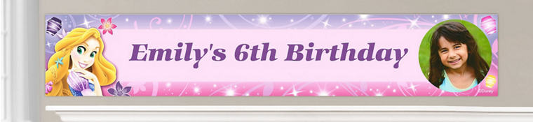 Custom Tangled Birthday Banners