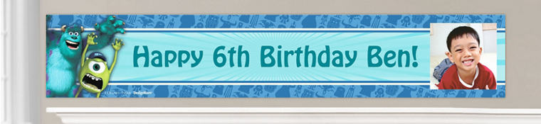 Custom Monsters University Birthday Banners