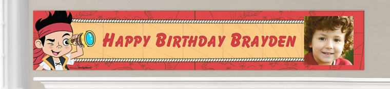 Custom Jake and the Never Land Pirates Birthday Banners