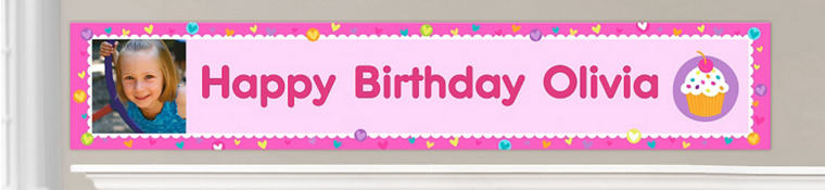 Custom Cupcake Birthday Banners