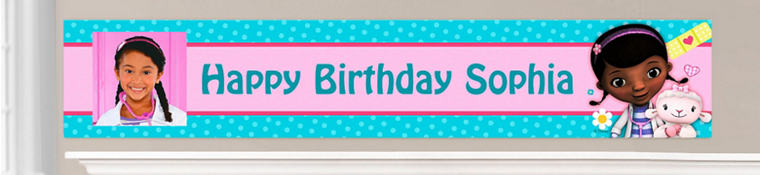 Custom Doc McStuffins Birthday Banners