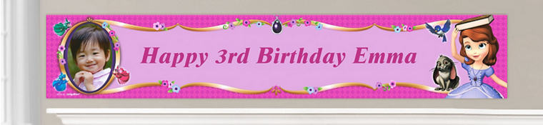 Custom Sofia the First Birthday Banners