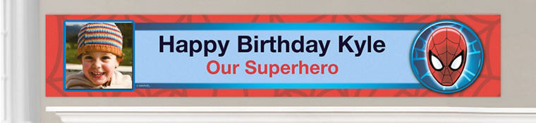 Custom Spider-Man Birthday Banners