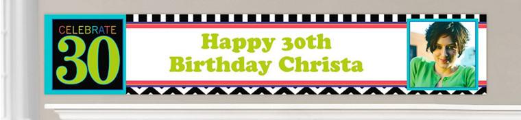 Custom 30th Birthday Banners