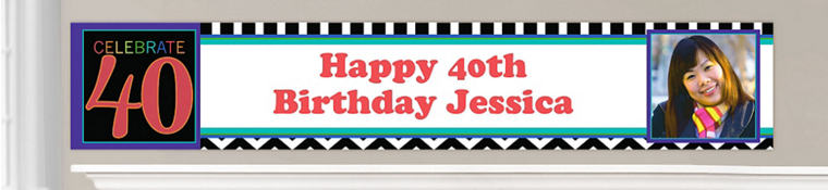 Custom 40th Birthday Banners
