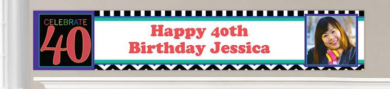 Custom 40th Birthday Banners
