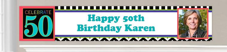 Custom 50th Birthday Banners